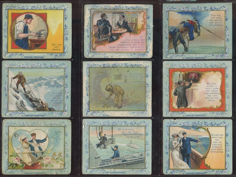 T62 Turkish Trophies Fables Lot of (18) Cards