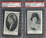 E123 American Caramel Actors & Actresses Lot of (2) PSA7 NM Cards