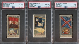 N6 Allen & Ginter City Flags Lot of (3) PSA6 and PSA5 cards