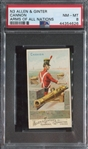 N3 Allen & Ginter Arms of All Nations Cannon PSA8 NMMT