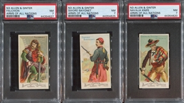 N3 Allen & Ginter Arms of All Nations Lot of (3) PSA7 NM Cards