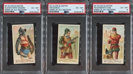 N3 Allen & Ginter Arms of All Nations Lot of (6) PSA6 EXMT Cards