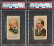 N1 Allen & Ginter American Editors Lot of (2) PSA7 NM Cards