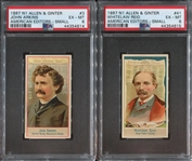 N1 Allen & Ginter American Editors Lot of (2) PSA6 EXMT Cards