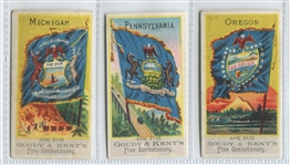 E17D Goudey & Kent Lot of (3) State Flags of the U.S.
