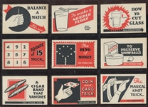 R155 General Gum Trick Cards High Grade Near Set (41/48)