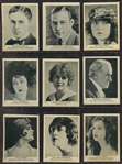 C142-3 Tobacco Products Corp (Canada) Strollers Large Format Lot of (94) Cards - Movie Stars
