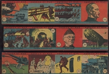 R12 America At War Strip Card Near Set (40/48) in (4) Card Uncut Panels