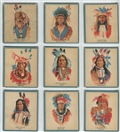 V254 Canadian Chewing Gum Indians Complete Set of (50) Cards - No Ad Version