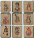 V254 Canadian Chewing Gum Indians Complete Set of (50) Cards - Papoose Ad Version