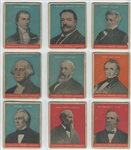 R114 U S Caramel Presidents Lot of (9) Cards