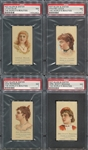 N27 Allen & Ginter Worlds Beauties (2nd Series) Lot of (4) PSA7 NM Cards