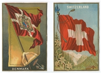 G8 Allen & Ginter Flags Banner Cut Flags Lot of (4) Examples