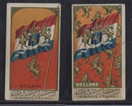 N9 Allen & Ginter Flags of All Nations Holland Pair - Regular and Fancy Versions