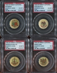 P10 Sweet Caporal State Pins Lot of (7) PSA-Graded Pinbacks