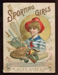 A32 Duke & Sons Tobacco Sporting Girls Album/Folio - Incomplete