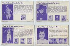 "Interesting ""Your Wife and Family to Be"" Mutoscope Complete Set of (16) Cards"