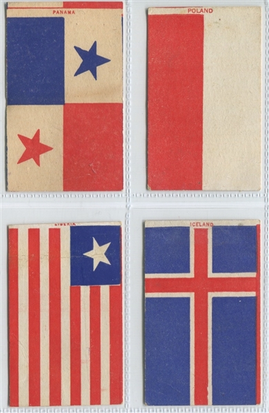 D-UNC Bell Bread Company Flags Lot of (5) Cards with Tough Silver Back Type