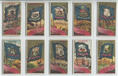 N11 Allen & Ginter Flags of the States and Territories Complete set of (47) Plus (5) Variations