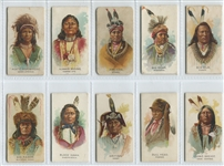 N2 Allen & Ginter Celebrated Indian Chiefs Lot of (26) Cards with Chief Gall Error card SGC-Graded