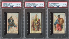 N3 Allen & Ginter Arms of All Nations PSA-Graded Lot of (5) Cards