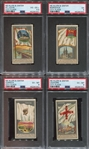 N6 Allen & Ginter City Flags Lot of (4) PSA-Graded Cards