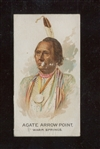N2 Allen & Ginter Celebrated American Indians Agate Arrow Point ERROR Card Good