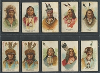 N2 Allen & Ginter Celebrated Indian Chiefs Lot of (45) Lower Grade Cards